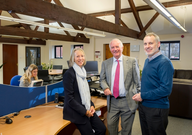 Will Abbott with Ian and Julie Heather of HRML